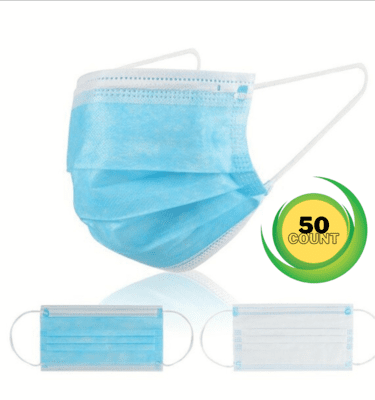3-ply disposable mask (50 count box)